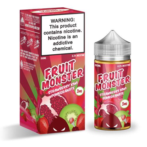 Fruit Monster Strawberry Kiwi Pomegranate 100ml Vape Juice