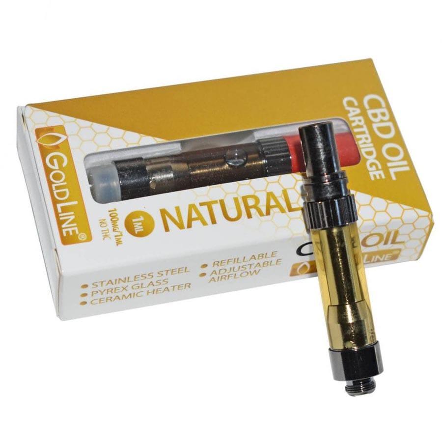 Goldline CBD 100mg Pre-Filled CBD Vape Cartridges by Honey Stick (1mL)