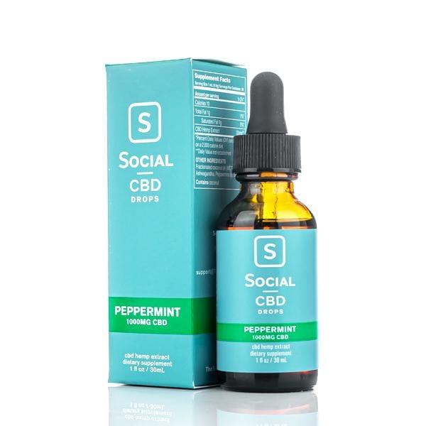 Social CBD Drops - 1000mg Tincture - Peppermint