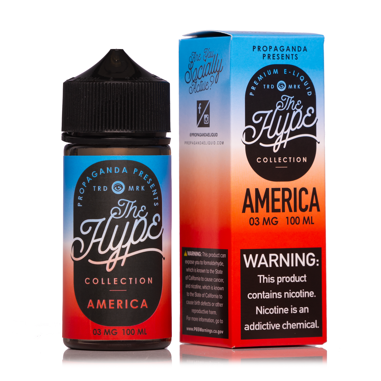 The Hype America 100ml Vape Juice