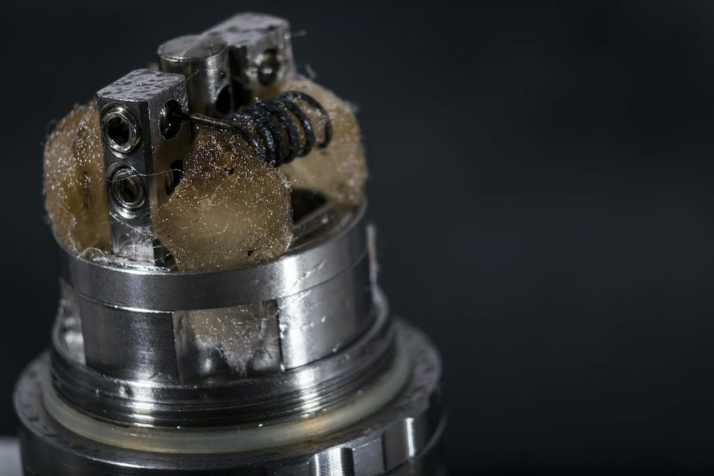 dirty used vape coil