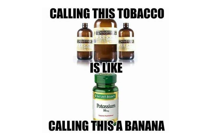 calling this tobacco vape meme
