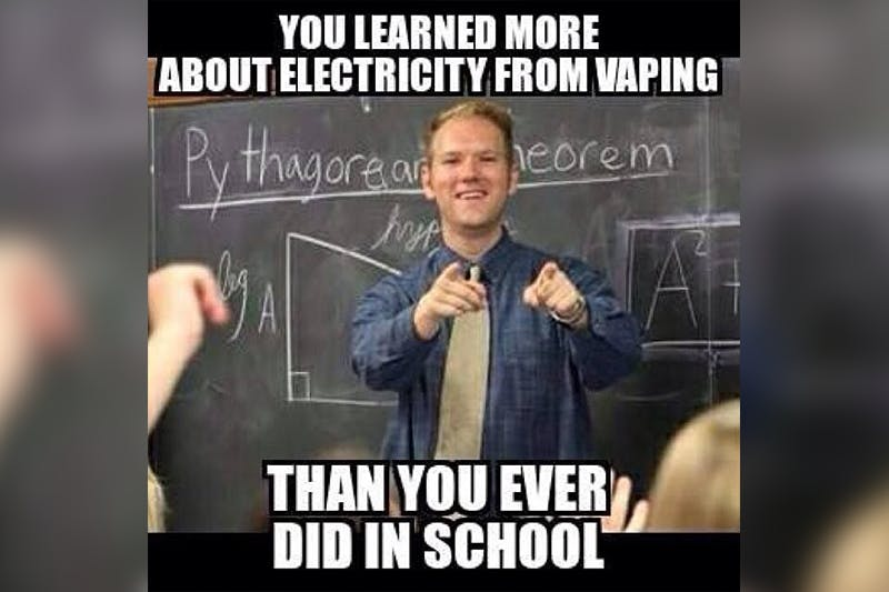 learn about electricity from vaping meme